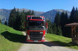 LKW in den Alpen